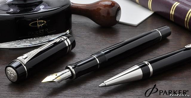 Перьевая ручка parker duofold f89 international black pt